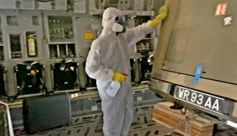 Covid-19 Antivirus Deep Clean of RAF vehicles